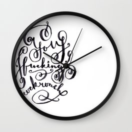 You F*cking Cockroach Wall Clock
