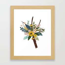 Bold Wildflower Bouquet Framed Art Print