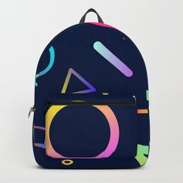 Rainbow Gradient Shapes Backpack