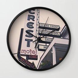 OOB Motel Sign Boho Art Print Wall Clock