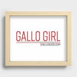 Gallo Girl Recessed Framed Print