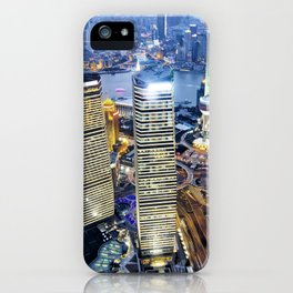 Shanghai By Night iPhone Case