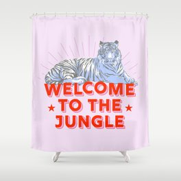 welcome to the jungle - retro tiger Shower Curtain