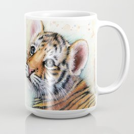 Nursery-Artwork-Tiger-Cub-Baby-Animal-Watercolor-Jungle-Safari-Animals Coffee Mug