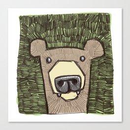 dack the bear Canvas Print