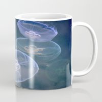 jellyfish Mugs featuring jellyfish by  Agostino Lo Coco
