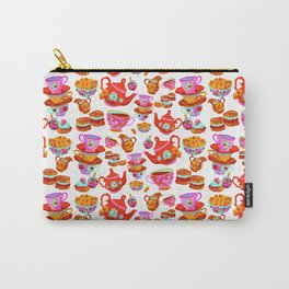 Tea Time - White Carry-All Pouch