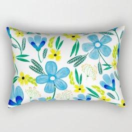 Blue Ones Rectangular Pillow