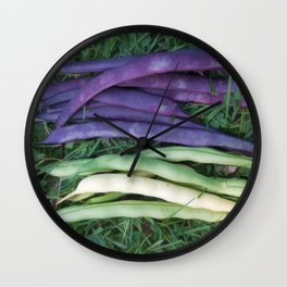 Colorful String Beans Wall Clock