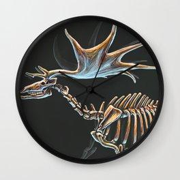 Megaloceros Giganteus Skeletal Study (No Labels) Wall Clock