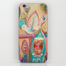 Life is sacred - inspirational art iPhone & iPod Skin