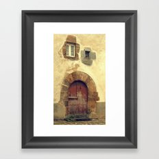 The red door Framed Art Print