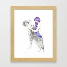 Reach For The Moon Framed Art Print