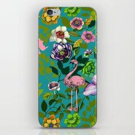 Flamingo Flowers iPhone Skin