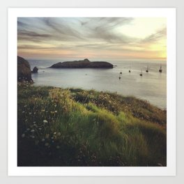 Mullion Cove Sunset Art Print