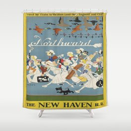 Vintage poster - New Haven Railroad Shower Curtain