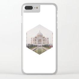 Taj Mahal - Geometric Photography Clear iPhone Case