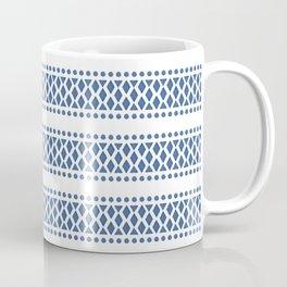 Classic blue and white tribal boho pattern Coffee Mug
