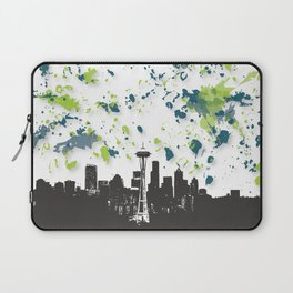 Seahawks Seattle Skyline Laptop Sleeve