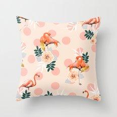 Flamingo Jazz #society6 #decor #pattern Throw Pillow