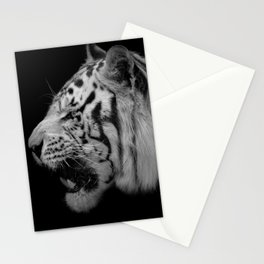 White Tiger Portrair Stationery Cards