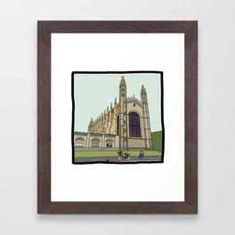 Cambridge stuggles: King's Framed Art Print