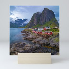 Breathtaking Rugged Coastline Scenic Seaside Mountain Village Mini Art Print