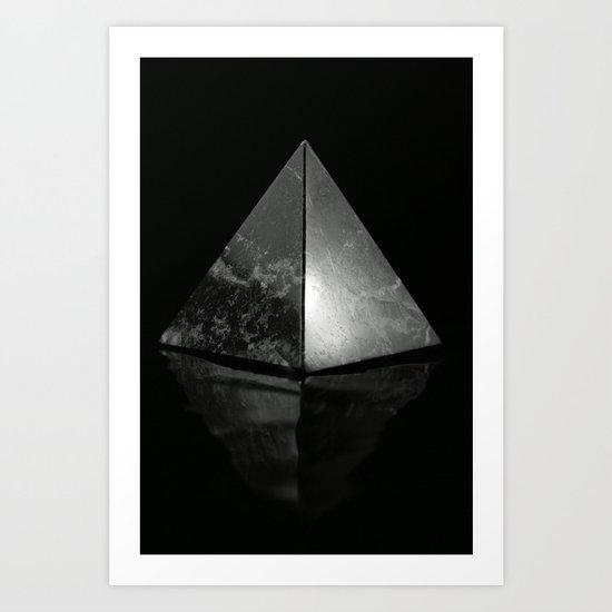 Pyramid on Black background Art Print