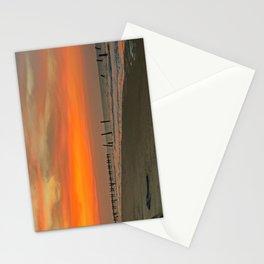 Sunset on Happisburgh Beach Stationery Cards