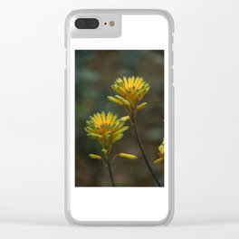 Yellow Blossoms Clear iPhone Case