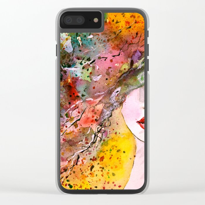 beauty woman Clear iPhone Case