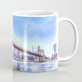 Brooklyn Bridge Art Coffee Mug