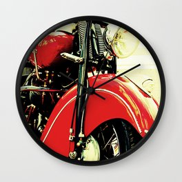 Motorcycle-Red Wall Clock