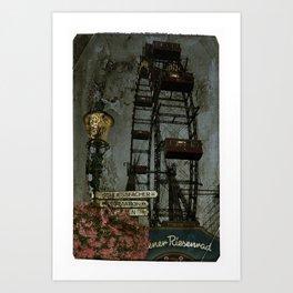 Vienna wheel Art Print