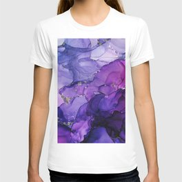 Violet Storm - Abstract Ink T-shirt