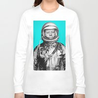 "jfk Long Sleeve T-shirts featuring JFK ASTRONAUT (or ""All Systems Are JFK"") by Dan Levin's Objects of Curiosity"