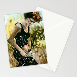 Persephone and the Bees_blue Stationery Cards
