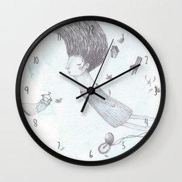 Quero sonhar sem limites nem hora para despertar Wall Clock