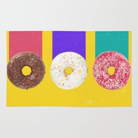 donuts Area & Throw Rugs featuring Donuts by Danny Ivan