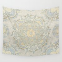 islam Wall Tapestries featuring Vintage Mandala by Mantra Mandala