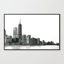 And the Embers Never Fade - Original Drawing Canvas Print