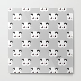 Spoopy Giant Panda Disguise Pattern Metal Print