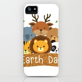 Earth Day For Kids Love Animals iPhone Case