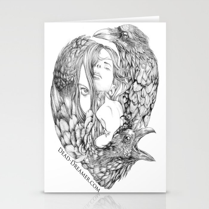 To Dream is to Die - Line Stationery Cards