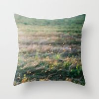 fairies Throw Pillows featuring Fairies by EarthandSky