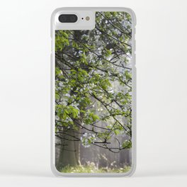 Wild Cherry Blossom Clear iPhone Case