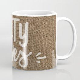 Salty Vibes on Burlap Coffee Mug