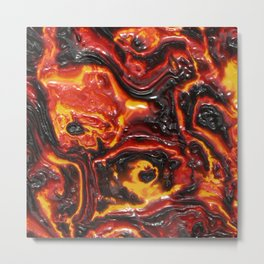 lava Active volcano Nature Metal Print