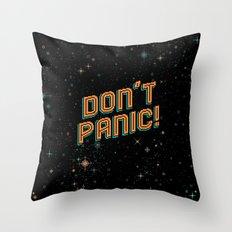 Don't Panic! Pixel Art Throw Pillow