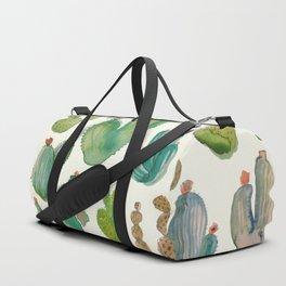 Summer Watercolor Cactus Duffle Bag